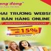 Giảm 15% – Nhân sự kiện công bố website bán hàng online