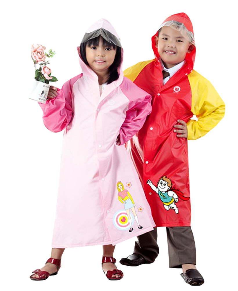 áo mưa gài nút trẻ em